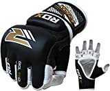 RDX Cow Hide Leather Grappling MMA Gloves Cage UFC Fighting Sparring Glove Training T2GL