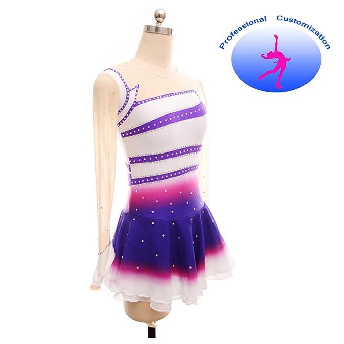 CUIXI Mädchen Eislaufen Kleid Wettbewerb Rhythmische Gymnastik ...