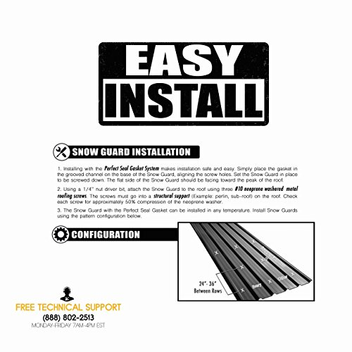 10 Pack Snow Guard With Perfect Seal Gasket And Screws