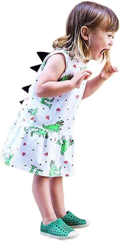 Vestido de niña, Riou Falda de Princesa de Dibujos Animados para ...