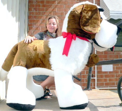 Big Plush American Made Giant Stuffed Saint Bernard 60 Inch Huge Soft Dog Made In Usa