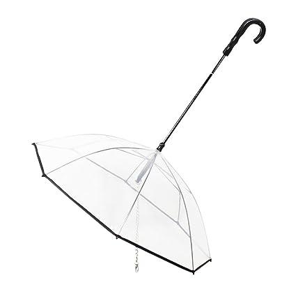 OMEM Paraguas portátil modular para perro con correa para mascotas al aire libre, suministros impermeables, diámetro 72 cm: Amazon.es: Productos para ...