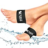 Compression Copper Arch Support Brace, 2 Plantar Fasciitis Sleeves for Flat Feet,Pain Relief and Heel Spurs