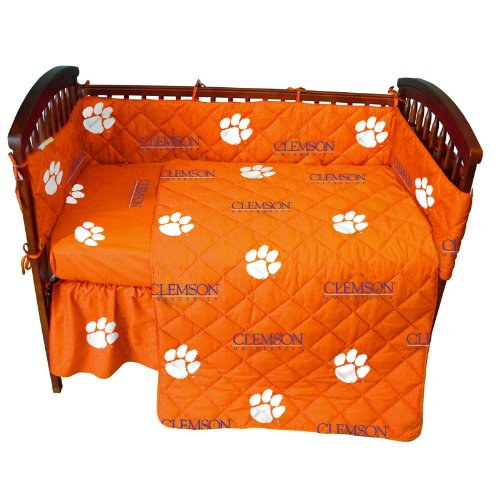 (College Covers Clemson Tigers 5 Piece Baby Crib Set )