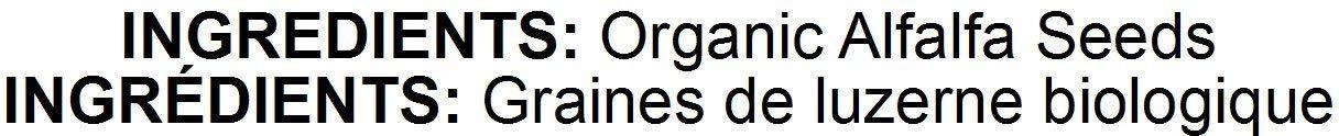 Organic Alfalfa Sprouting Seeds, 5 Pounds - Non-GMO, Kosher, Raw, Vegan, Bulk by Food to Live