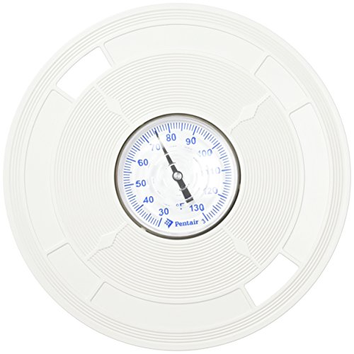 Pentair L5 8-3/8-Inch White Lid Replacement Pool and Spa Skimmer with Thermometer