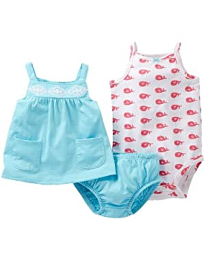 Whale 3pc Diaper Cover Set (nb)