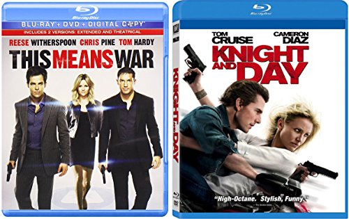Knight and Day + This Means War Blu Ray Fun Action Comedy movie Set Combo Edition