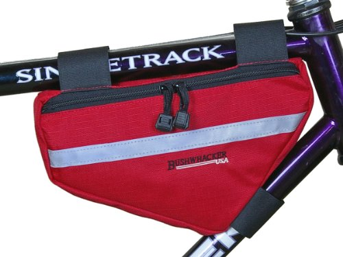Big Save! Bushwhacker Laredo Red - Bicycle Frame Bag Cycling Triangle Bag Bike Top Tube Bag - w/ Ref...