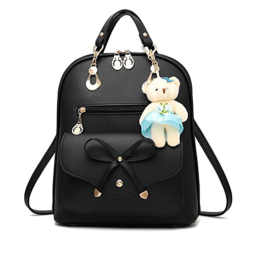 Women Backpack Bag Korean All-match Dual-purpose Bag Lady Travel Casual Multi-functional Backpack,Black by OASD (Image #7)
