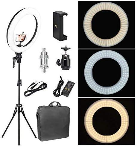 Zomei (Anillo LED de luz 55 W 5500 K Iluminación Kit con Cabezal de Bola para trípode y Soporte de móvil para Smartphone Cámara Grabación de vídeo en Youtube: Amazon.es: Electrónica
