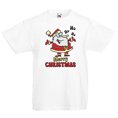 Lepni Me T Shirt Pour Fille Garcon Danse Du Pere Noel Chemise De