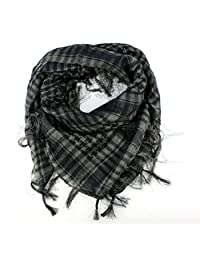 Fashion Scarves, Mapletop Women Men Arab Shemagh Keffiyeh Palestine Scarf Shawl Wrap (Black)