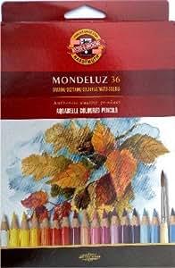 Mondeluz Acuarela lápices de madera de cedro, 36unidades)