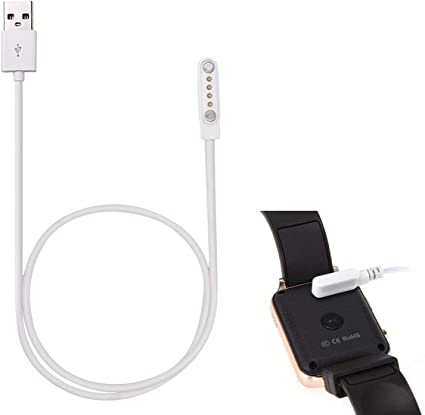 Amazon.com: Cable de carga USB Smartwatch, 4 pines ...