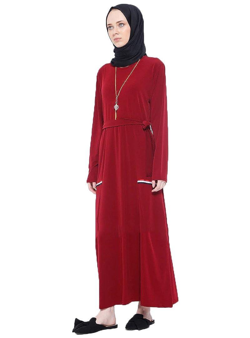 e48fdf41fc Nupel Turkish Maroon - Crew Neck - Unlined - Islamic Modesty Dress (44) at  Amazon Women s Clothing store