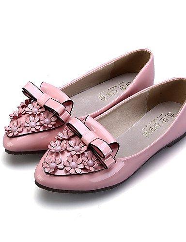 5 zapatos almendra negro Flats eu38 uk5 5 us7 cn38 mujer casual rosa plano talón comodidad de rojo PDX cerrado de Toe señaló Toe vestido black pqxwT56RP