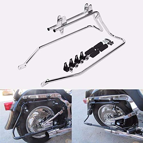 (Saddlebag Conversion Brackets Mounts for Harley Davidson Softail w/Hardware chrome)