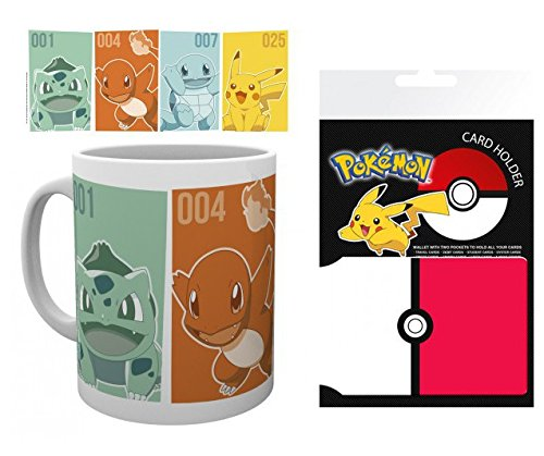 Set: Pokemon, Starters Photo Coffee Mug (4x3 inches) And ...