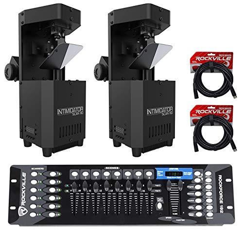 (2) Chauvet Intimidator Scan 110 Compact Scanner Effect Lights+DMX - Professional Dmx Scanner