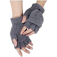 Gloves - SODIAL(R)Girls Cute Fluffy Hand Wrist Warmer Soft Winter Fingerless Gloves Women Mitten dark gray