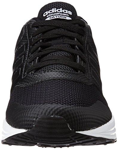 adidas Cloudfoam Saturn, Zapatillas de Deporte para Hombre Negro (Negbas / Negbas / Ftwbla)
