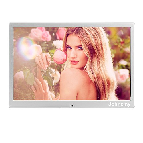 14.1 Inch Digital Photo Frame- Metal Electronic Picture Frame with 1366×768 High Resolution Display & Remote Controller Support SD/MMC/MS Card/USB Port