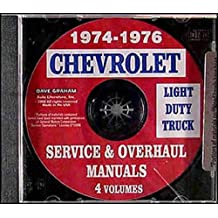 Amazon the g20 books 1974 1975 1976 chevrolet light duty truck pickup factory repair shop service manual covers model numbers c10 c20 c30 k5 k10 k20 k30 g10 g20 fandeluxe Images