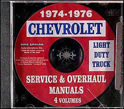 1974 1975 1976 CHEVROLET LIGHT DUTY TRUCK & PICKUP FACTORY REPAIR SHOP & SERVICE MANUAL Covers model numbers C10, C20, C30, K5, K10, K20, K30, G10, G20, G30, P10, P20, and P30. Covers Chevy motorhome chassis CHEVY 76