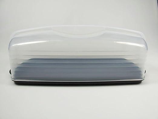Tupperware Königskuchenbehälter Kuchenform lang schwarz und neu