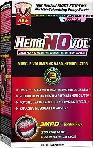 (ALLMAX Nutrition HemaNOvol, Muscle Volumizing Vaso-Hemodilator, 240 Captabs)