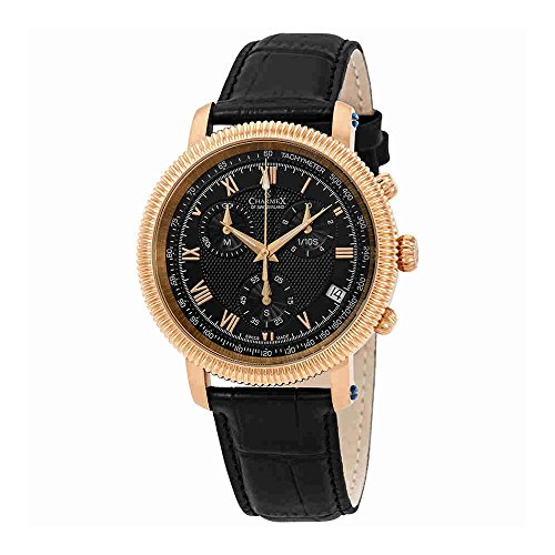 Charmex President II Chronograph Black Dial Mens Watch 2986