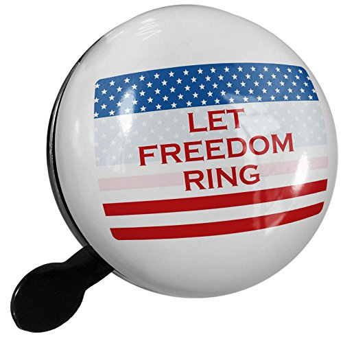 Small Bike Bell Let Freedom Ring Fourth of July Flag - NEONBLOND by NEONBLOND