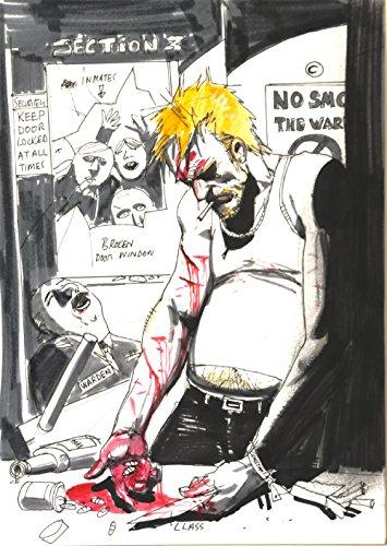 SIMON BISLEY original art, HELLBLAZER #268 preliminary Cover, 8.5