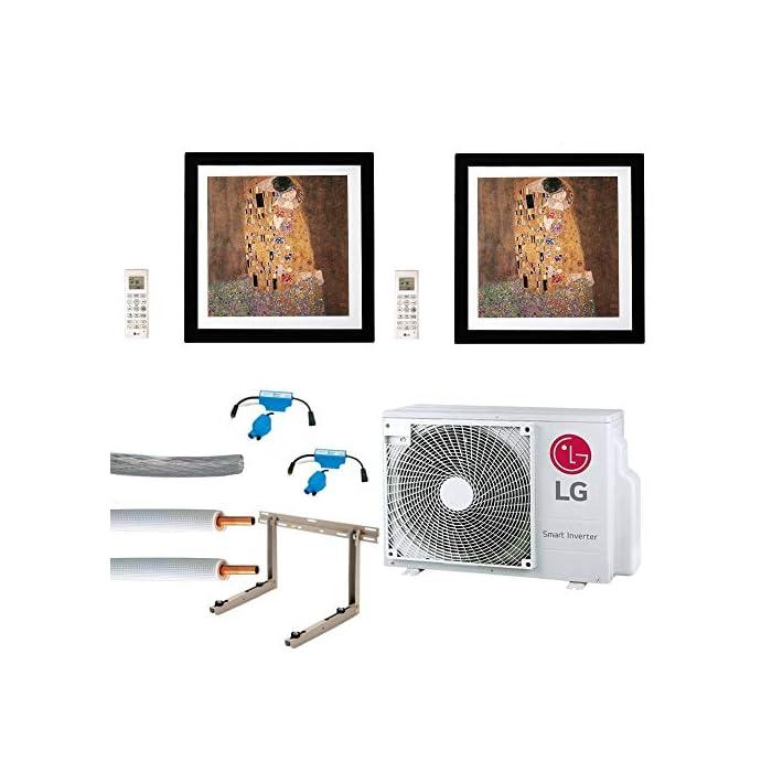 51elTPODuzL Modelo: Aire acondicionado juego completo multisplit LG Gallery pared dispositivos 2 x 3,5kW 4260454529489 Nivel de ruido: 3,5 kW: 44/38/32 dB (a)