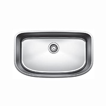 Blanco 441586 One Super Undermount Single Bowl Kitchen Sink, Small ...
