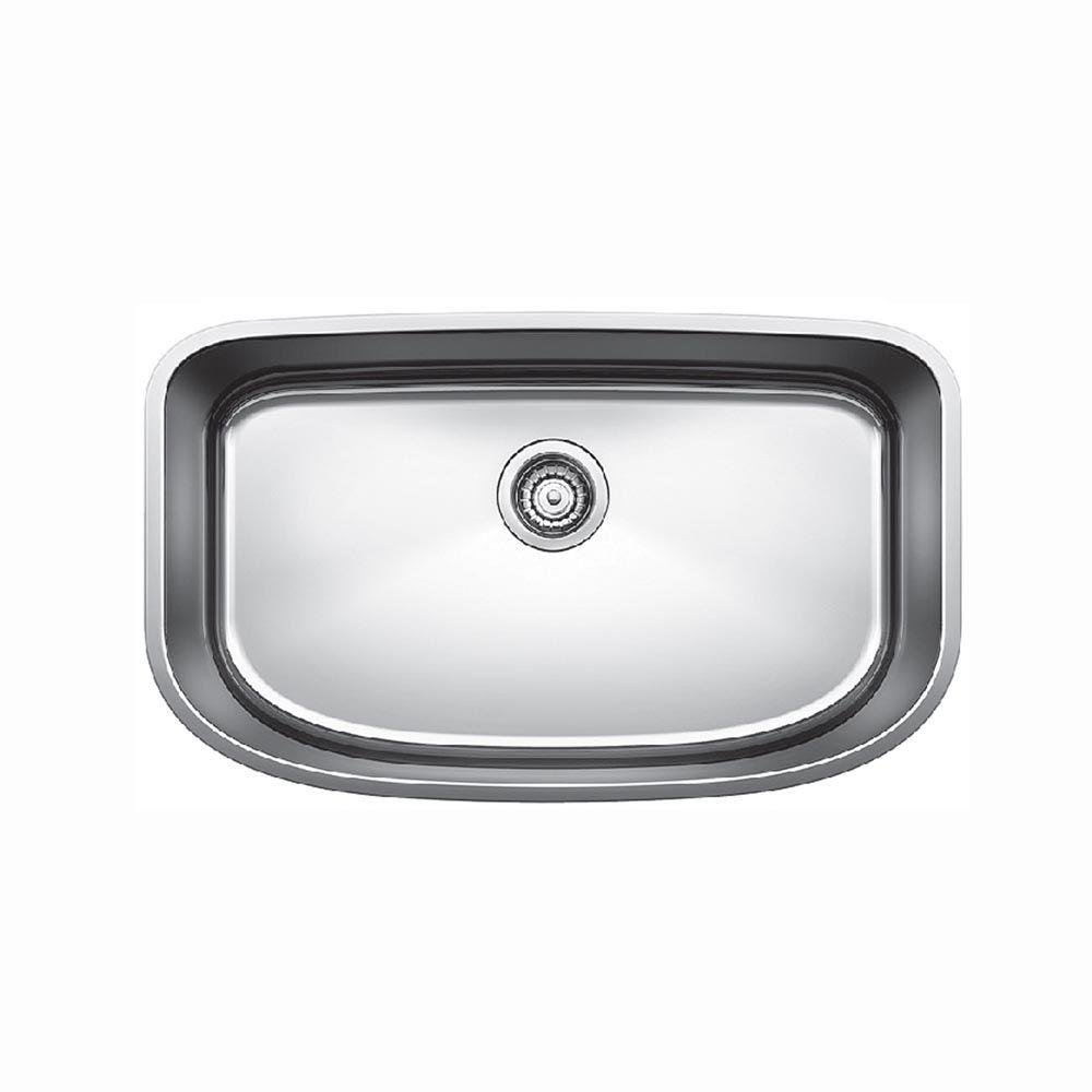 Blanco 441586 One Super Undermount Single Bowl Kitchen Sink, Small, Stainless Steel
