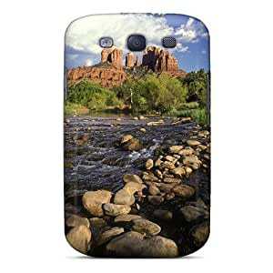 Premium Durable Stream From Cathedral Rock Formation Fashion TpuHTC One M7 Protective Case Cover