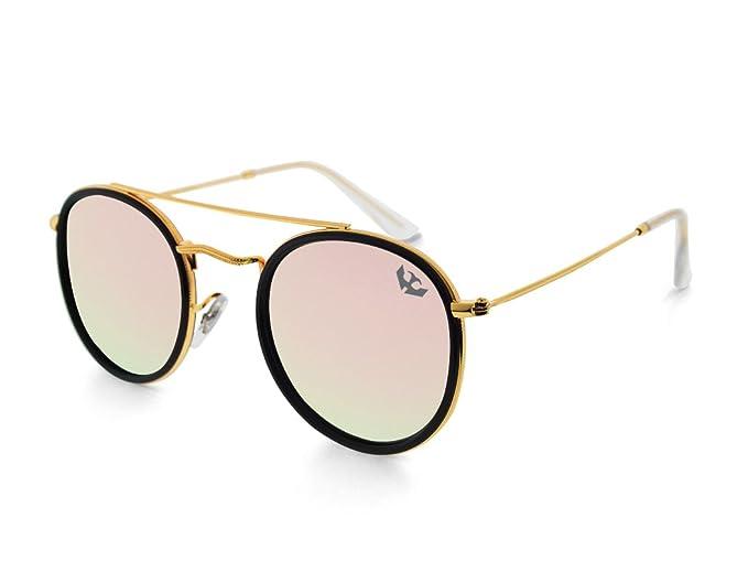 Gafas de sol MOSCA NEGRA modelo GLAM PINK efecto espejo ...