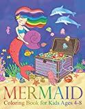 Mermaid Coloring Book for Kids Ages 4-8: 40