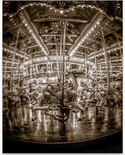 - Walt Disney World King Arthur Carousel - 11x14 Unframed Art Print - Makes a Great Gift Under $15 for Disney Fans