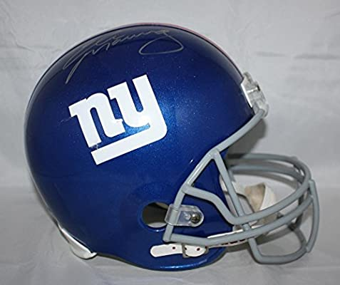 Amazon.com  Eli Manning Autographed New York Giants Full Size Helmet-  Steiner Authenticated Silver  Sports Collectibles 9ec6100e0