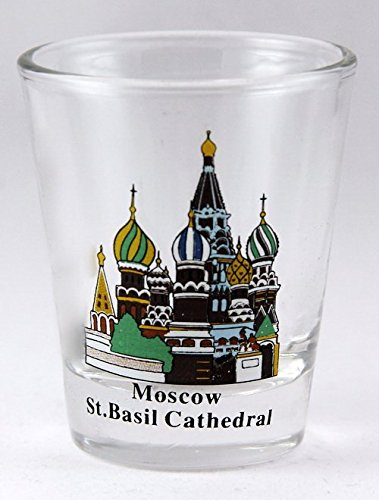Moscow Russia St.Basil Cathedral Shot Glass