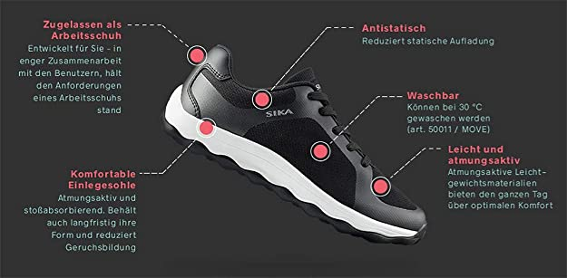 50011 Bubble Move Sneaker Berufsschuh Geeignet für