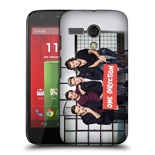 Official One Direction 1D GP15 Group Photos Hard Back Case Cover for Motorola Moto G (Moto G One Direction Cases compare prices)