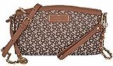 DKNY Donna Karan Chino Walnut Heritage Small Wristlet Crossbody Bag