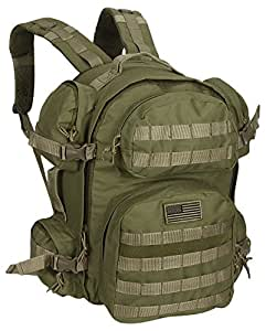 NPUSA Men's Large Expandable Tactical Molle Hydration ReadyBackpack Daypack Bag - Tan