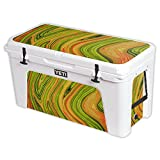 MightySkins Protective Vinyl Skin Decal for YETI Tundra 125 qt Cooler wrap Cover Sticker Skins Marble Trip