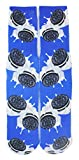 Men's Cool Printed Crazy Colorful Athletic Basketball Sports Crew Tube Socks (Oreo)