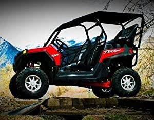 UTV Mountain Polaris RZR 900 XP Back Seat, Roll Cage And Soft Top Roof Kit.  Two 4 Point Harnesses. RXR900XP Kit2